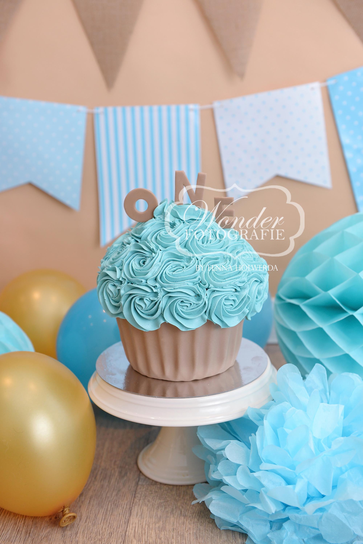 Cake smash fotoshoot taart giant cupcake thema inspiratie jongen meisje03