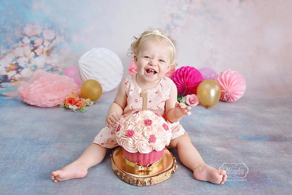 cake smash baby fotoshoot fotografie fotograaf zwolle kampen overijssel friesland