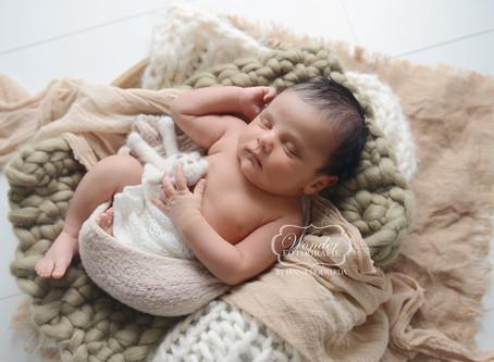 Newborn Fotoshoot kleine jongen