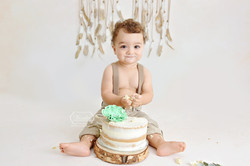 Cake Smash Fotoshoot Simpel neutraal boh