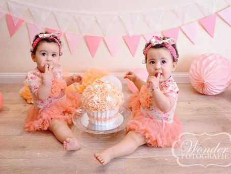 Cake Smash Fotoshoot Tweeling