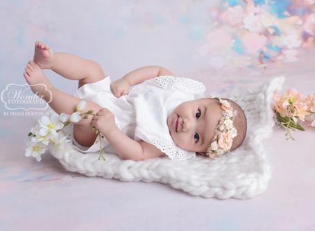 100 dagen oud babyfotoshoot