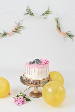 4 Boho Cake Smash Fotoshoot meisje girl 2 jaar 2 years old second birthday verjaardag