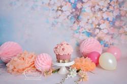 bloemen vintage floral bloesem cake smash fotoshoot meisje photoshoot