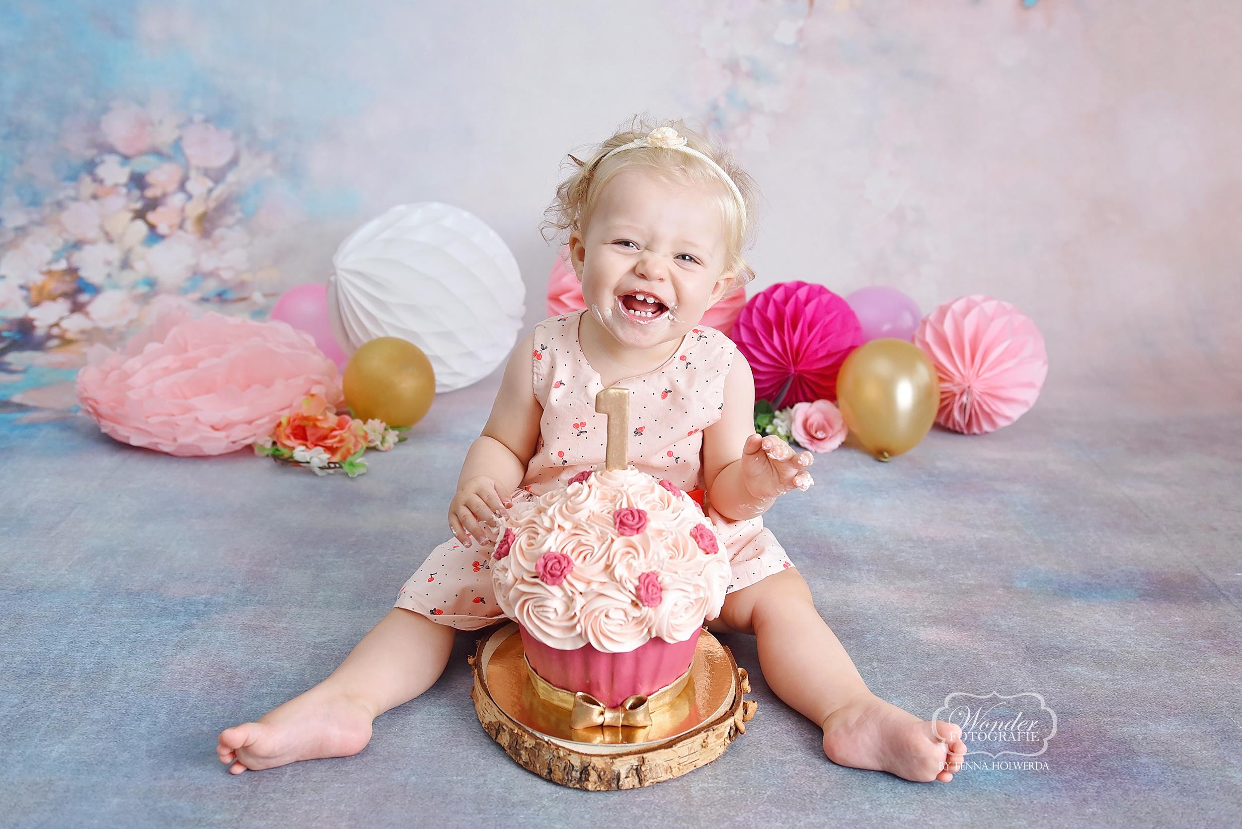 cake smash baby fotoshoot shoot fotografie verjaardag overijssel drenthe friesland
