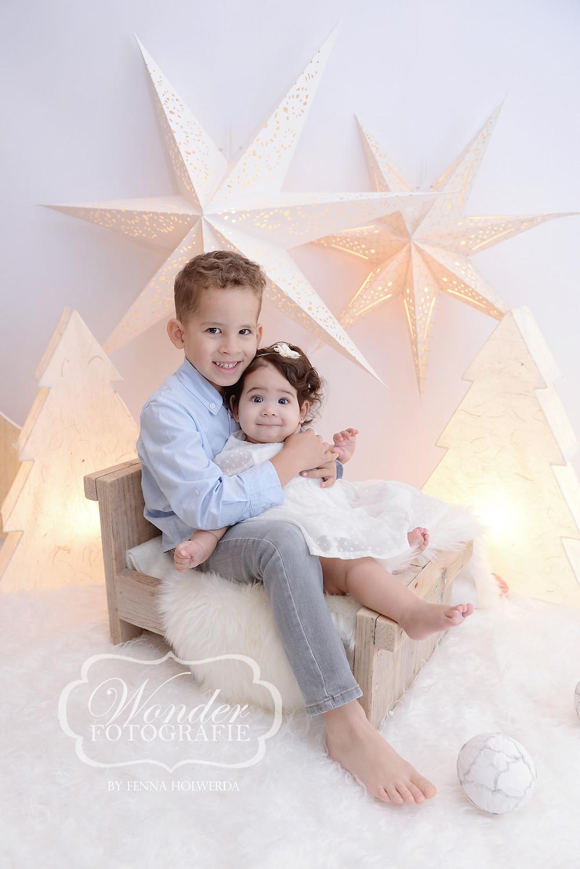 Mini Kerst Fotoshoot Almere Broer Zus Kinderen Ikea Action