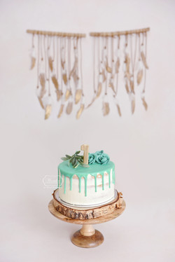4 taart cake smash fotoshoot simpel natu
