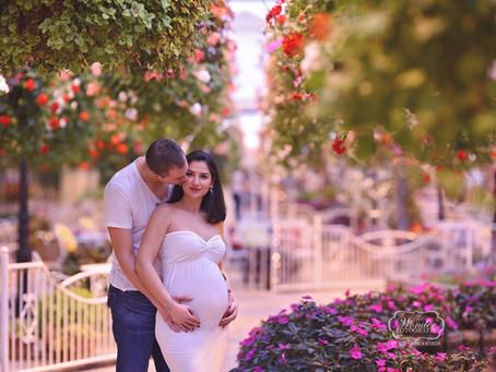 Zwangerschapsfotoshoot Orchideeënhoeve