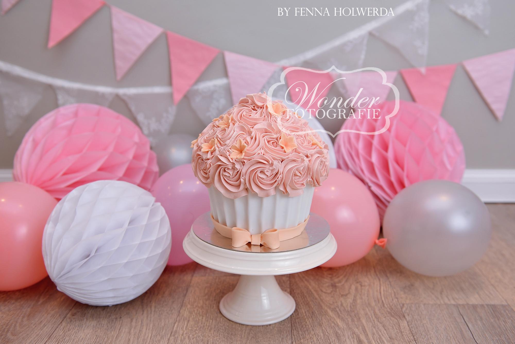 Cake smash fotoshoot taart giant cupcake thema inspiratie jongen meisje07
