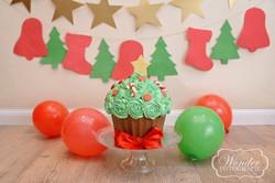 kerst thema cake smash fotoshoot almere christmas theme photoshoot