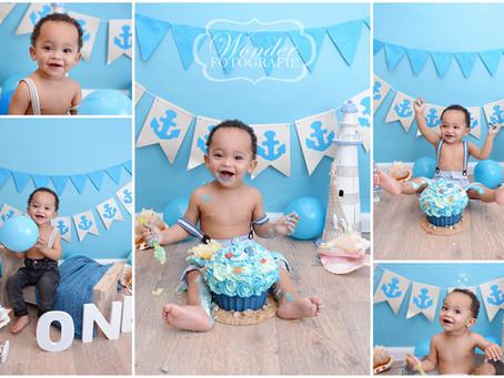 Cake Smash Fotoshoot met strand thema