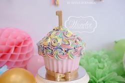Cake smash fotoshoot taart giant cupcake thema inspiratie jongen meisje06