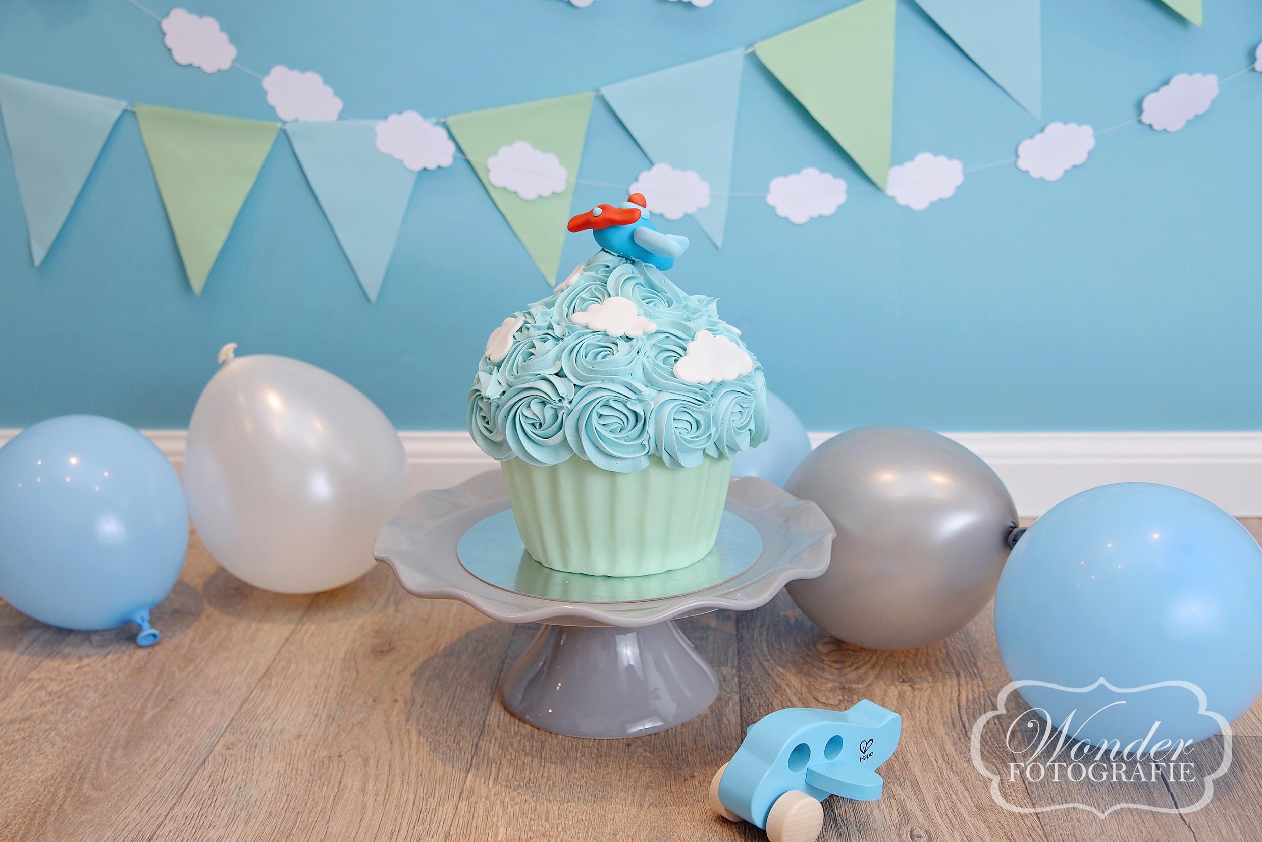 Cake Smash Piloten vliegtuig thema Fotograaf almere airplane theme
