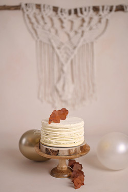 cake smash boho macrame bohemian wandkleed neutraal wit puur
