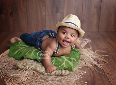 Fotoshoot Jongen 4 of 5 maanden oud