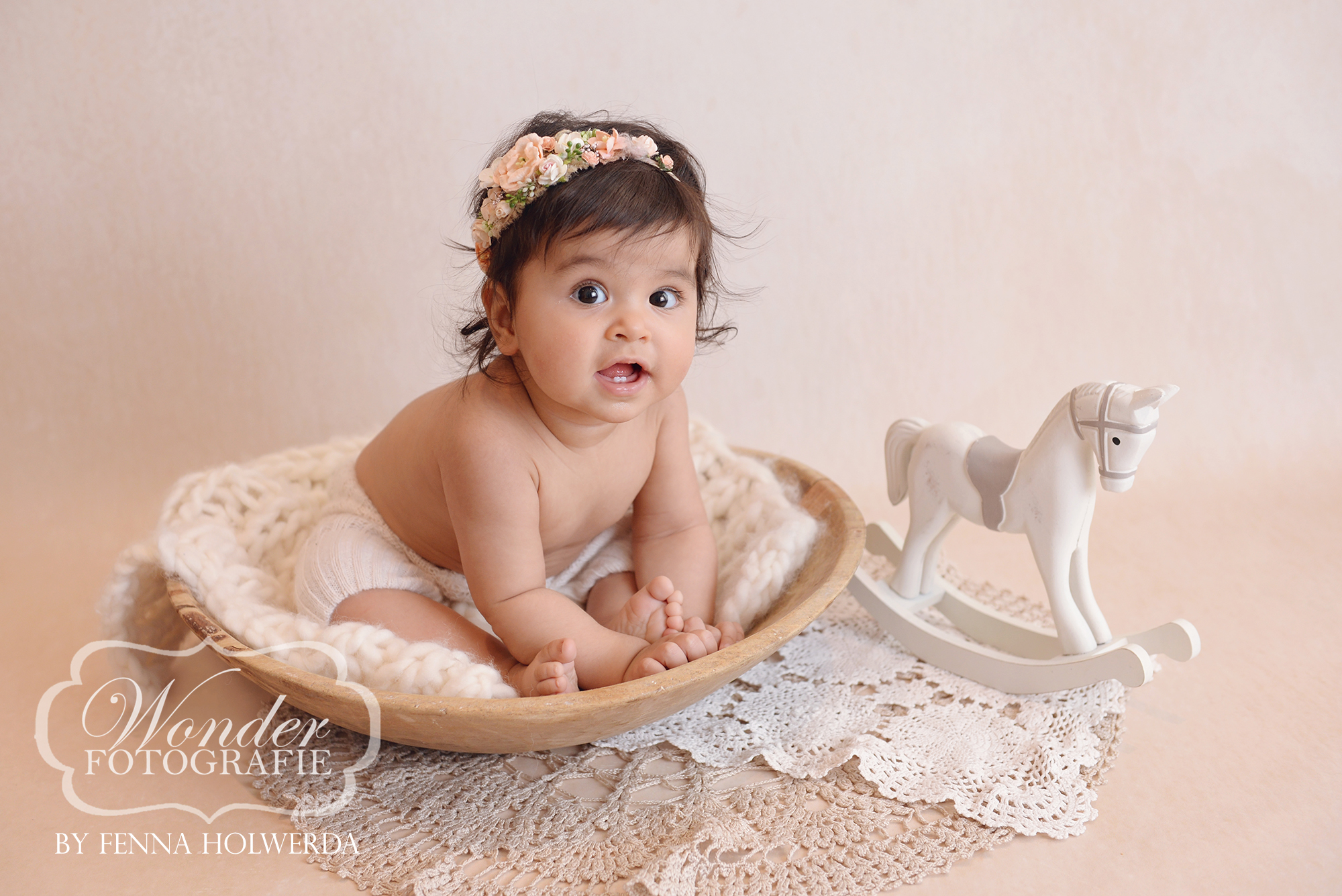Babyfotoshoot Sitter Sessie Naturel