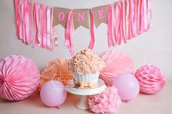 giant cupcake roze pink cake smash shoot fotoshoot photoshoot