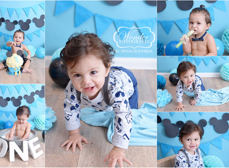 Cake Smash Fotoshoot Baby Mickey Mouse
