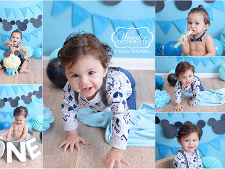 Cake Smash Fotoshoot Baby Mickey Mouse