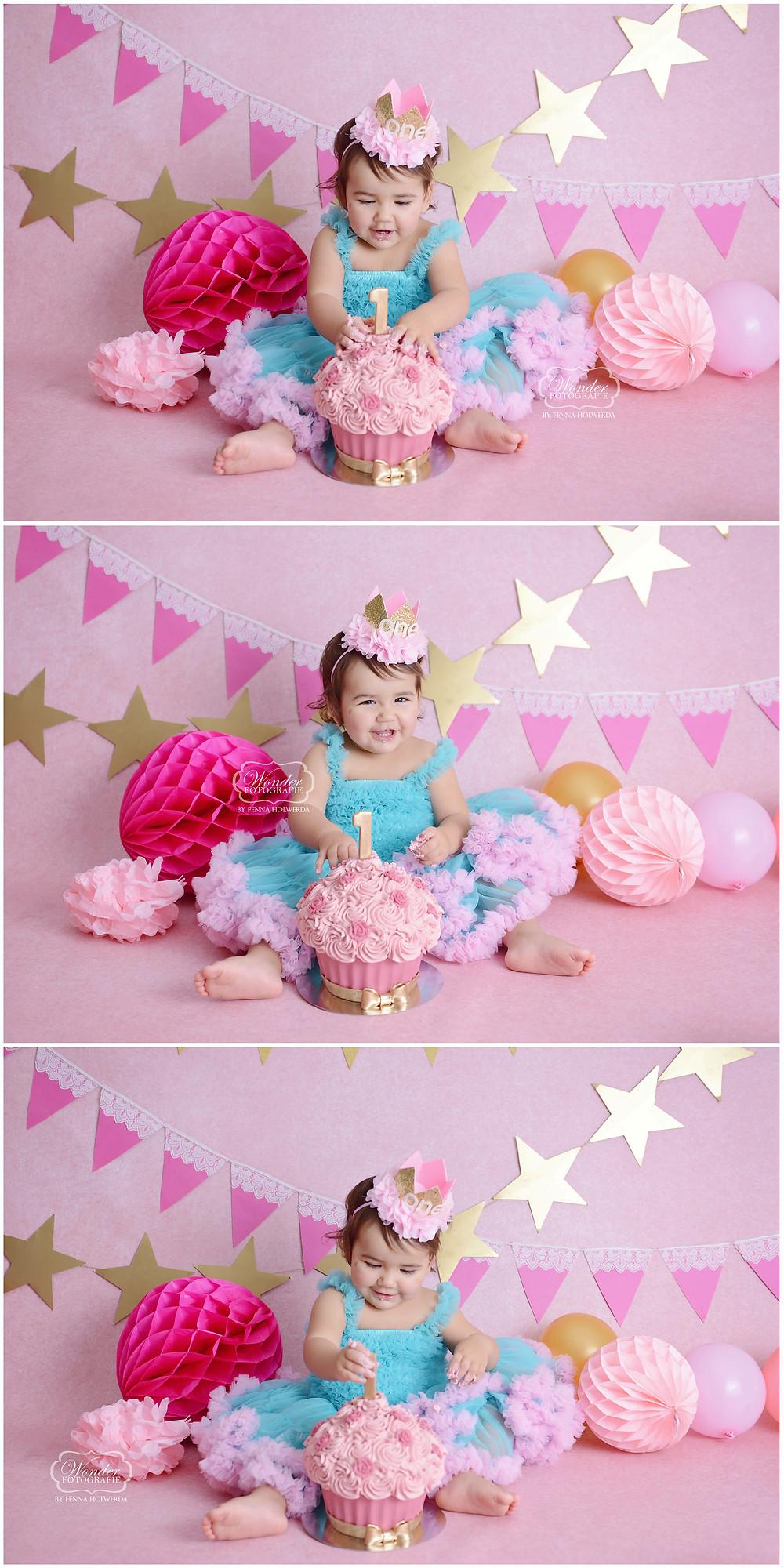 cake smash fotoshoot fotografie roze goud inspiratie tips tricks