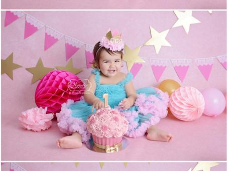 Cake Smash Fotoshoot Roze Goud