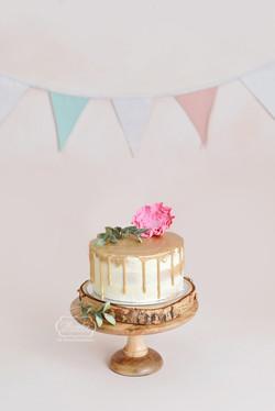 2 taart cake smash fotoshoot simpel natu