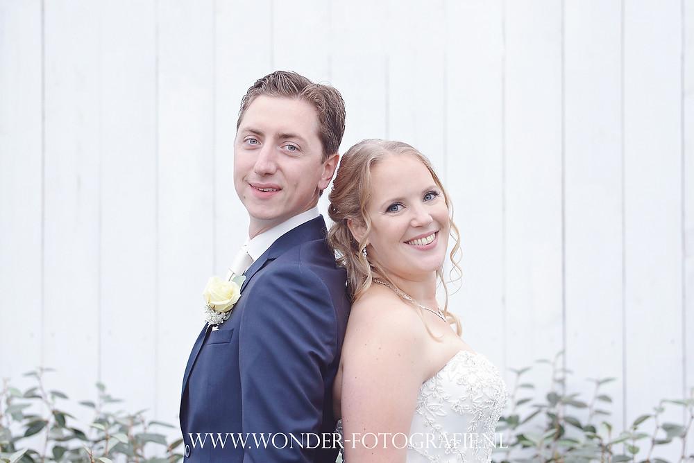 Trouwfoto Bruidsfotograaf Trouwfotograaf Noordwijk Regen Slecht weer Tuincentrum Fotoshoot