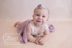 Zitter Sessie Sitter Session Babyfotoshoot 8 maanden baby zelfstandig zitten mooi