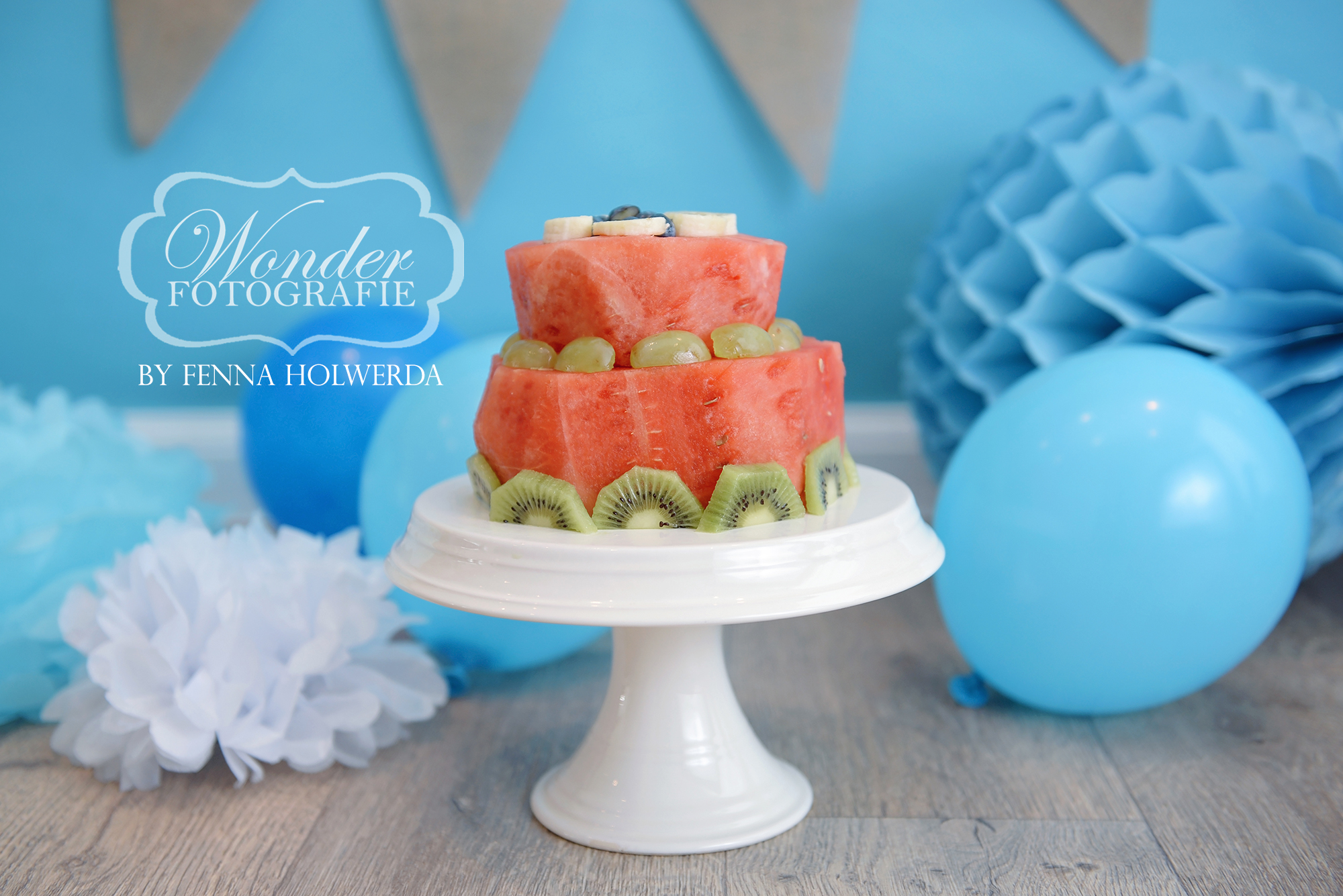 Gezonde Cake Smash fruittaart Fotoshoot Healthy Photoshoot Watermeloen Fruit Watermelon01 copy
