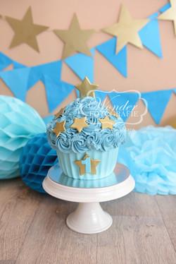 Cake smash fotoshoot taart giant cupcake thema inspiratie jongen meisje05
