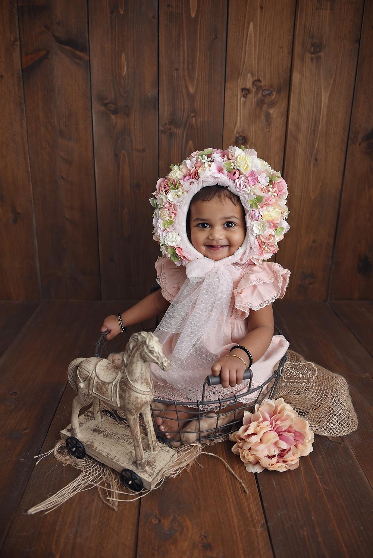 cake smash fotoshoot friesland roze meisje overijssel flevoland