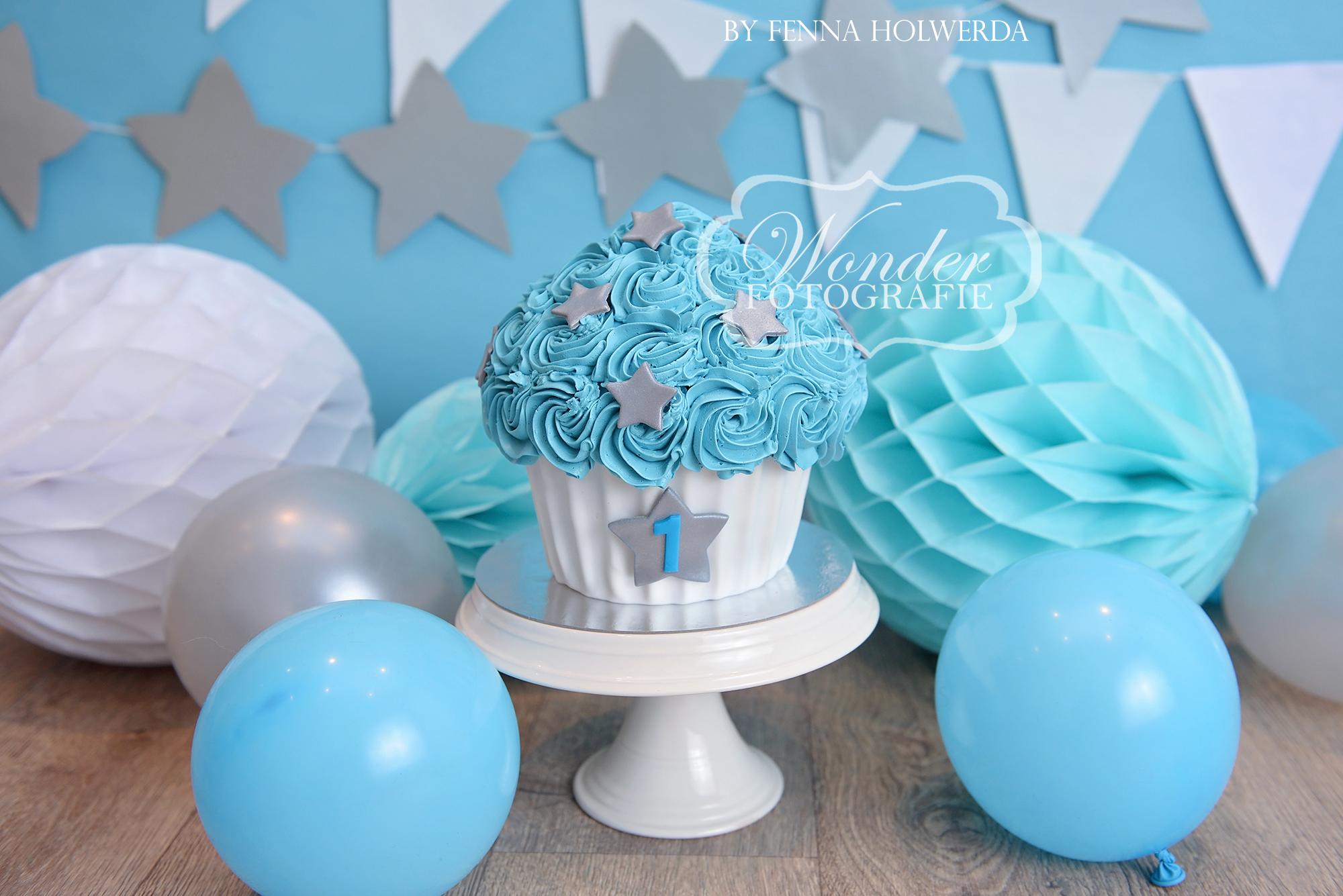 Cake smash fotoshoot taart giant cupcake thema inspiratie jongen meisje14