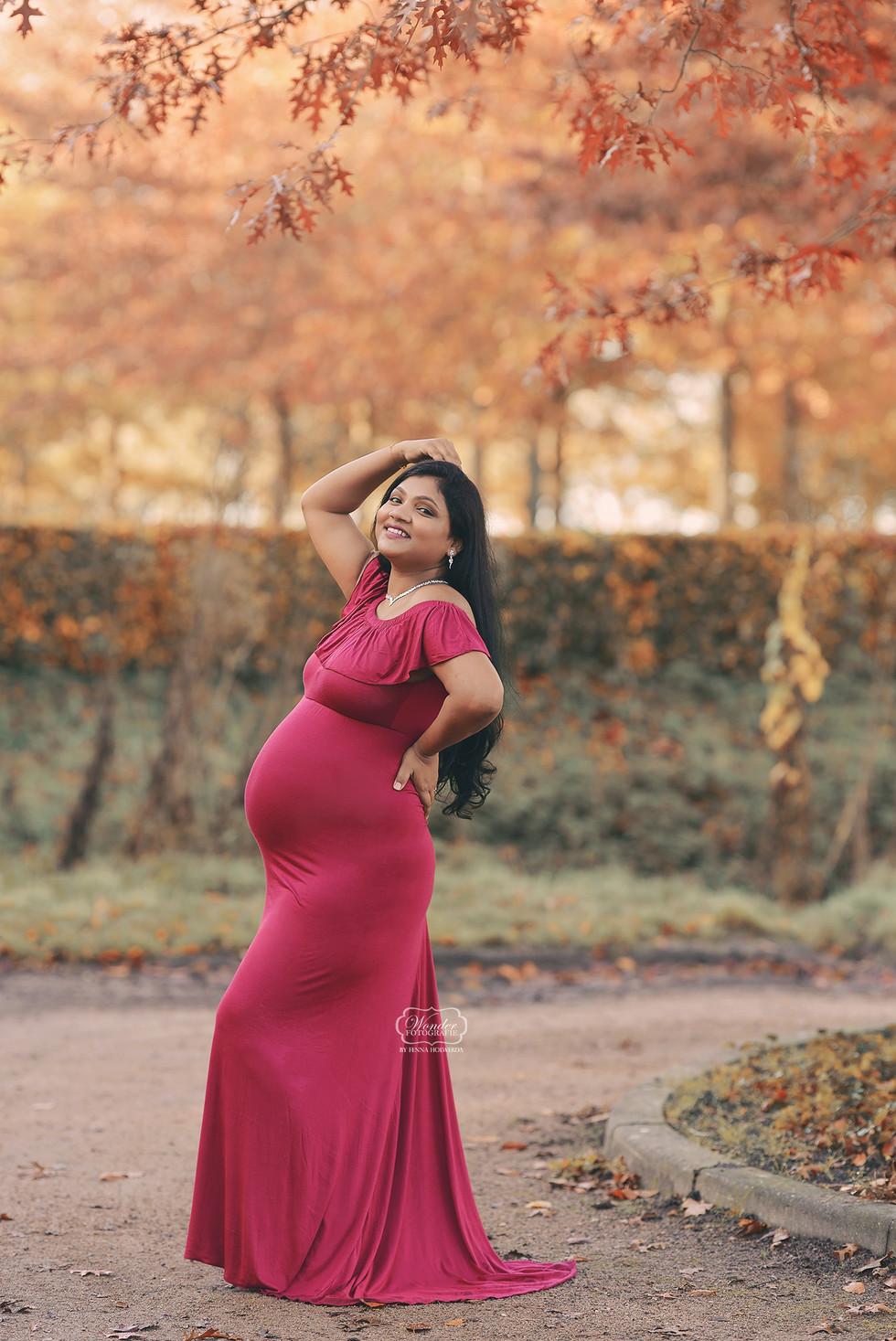 2 zwangerschapsfotoshoot buiten outdoor
