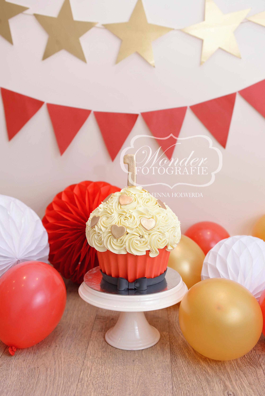 Cake smash fotoshoot taart giant cupcake thema inspiratie jongen meisje09