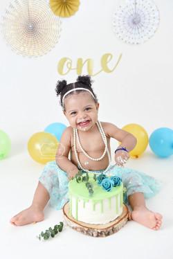 2 verjaardag Cake Smash Fotoshoot boho n