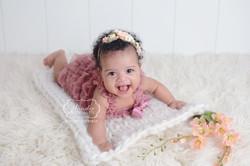 sitter sessie baby meisje fotoshoot babyshoot outfit kant inspiratie