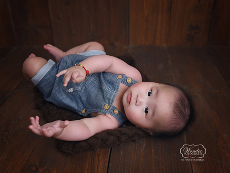 Babyfotoshoot wanneer je kindje te oud is voor een newborn shoot