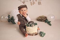 cake smash shoot fotoshoot baby eerste verjaardag boho puur naturel warm friesland overijs