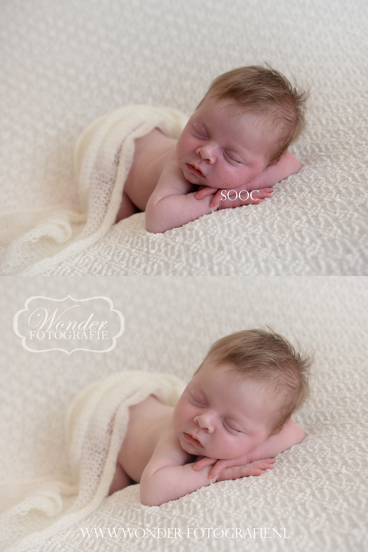 Newborn Edit Before After SOOC