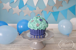 Cake Smash Blauw-Sterren thema - Wonder Fotografie