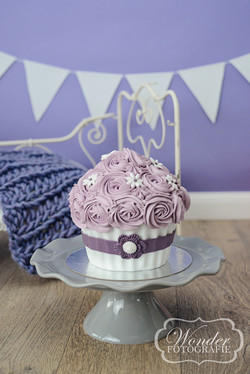 Cake Smash Taart Lila