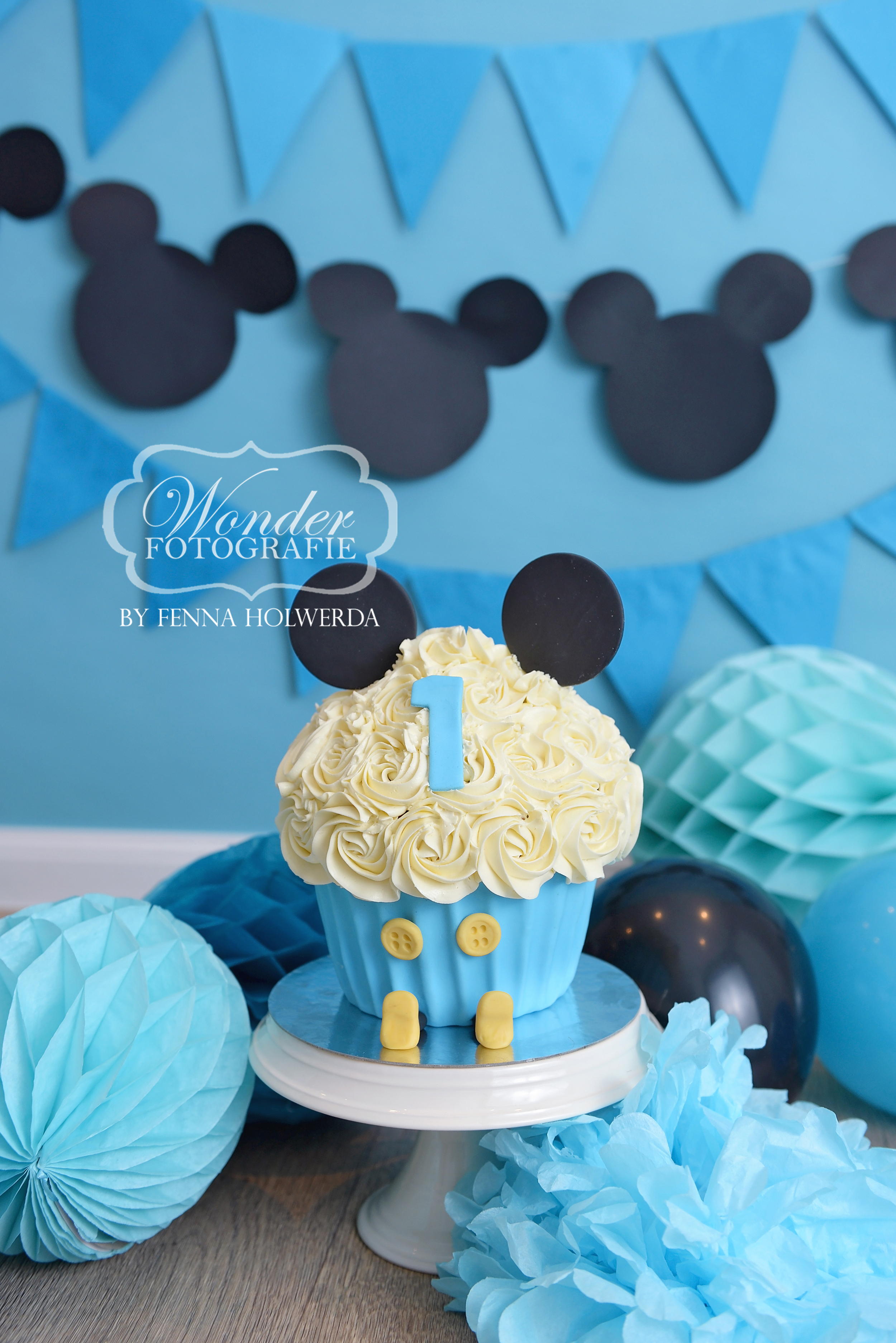 Cake Smash taart Mickey Mouse cake fotos