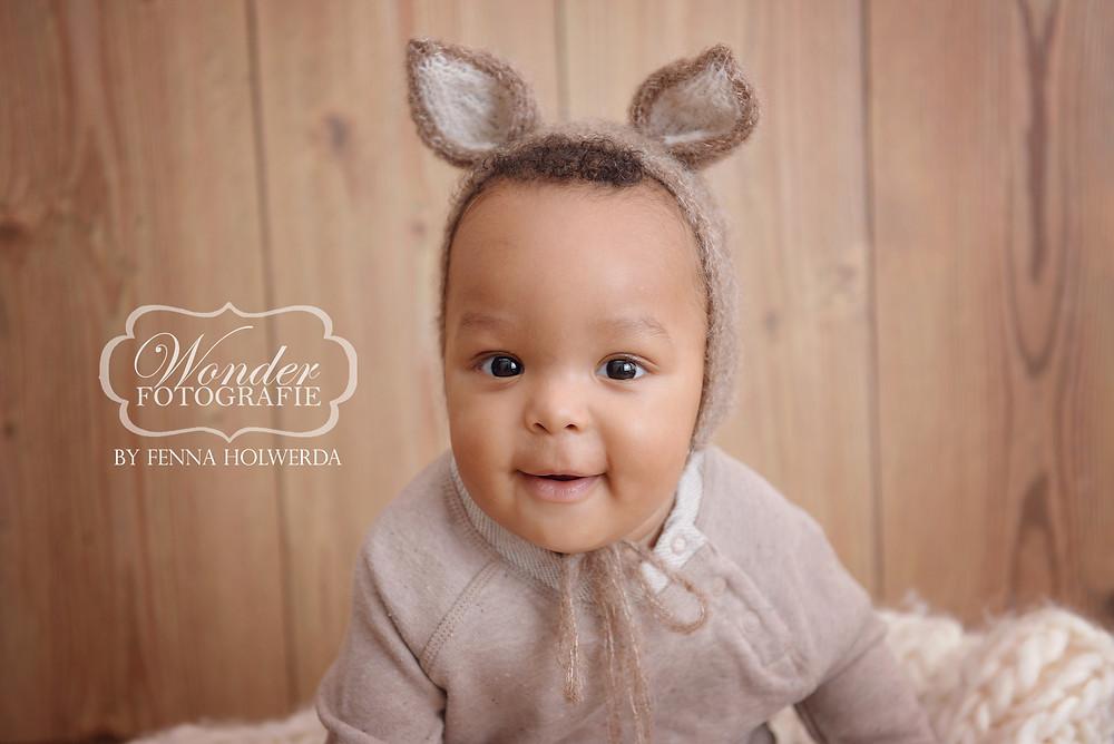 Sitter Sessie Session Baby shoot babyfotoshoot studio naturel 8 maanden oud