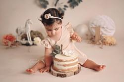 13 cake smash fotoshoot shoot baby bohemian boho botanical naturel puur studio mooiste bes