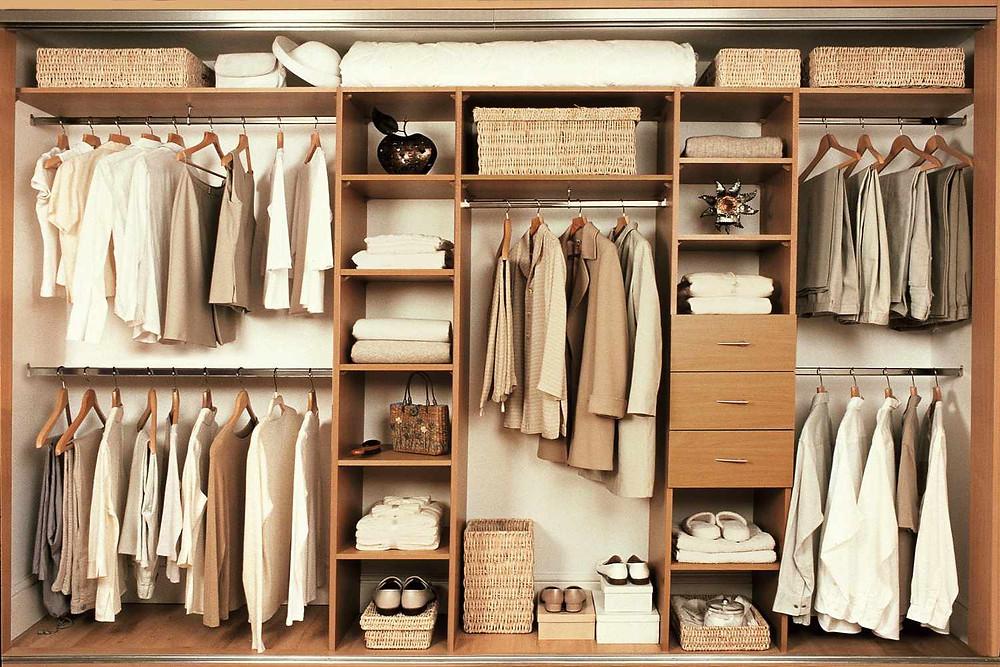 Зоны хранения шкафа