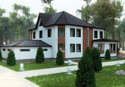 Зd макет загородного дома