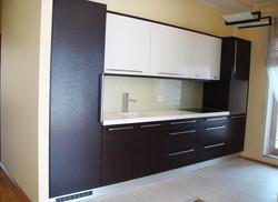 Прямой кухонный гарнитур из МДФ