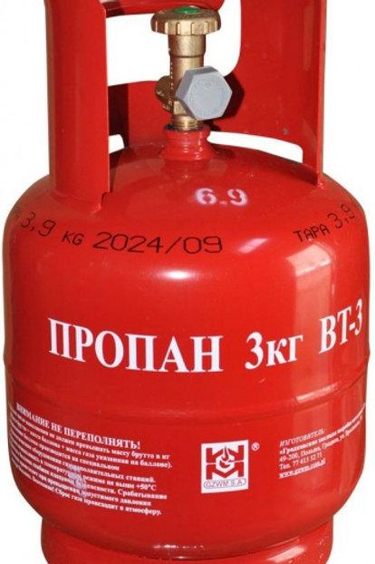 Купить туристический газовый баллон BT-3 7,2 литра