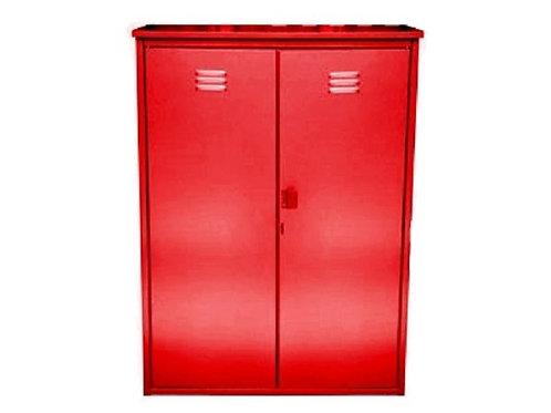 Купить шкаф для газового баллона двойной красный