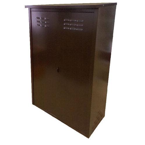 Купить шкаф для газового баллона двойной коричневый